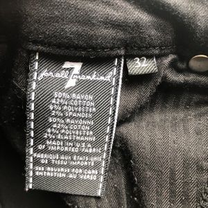 7 For All Mankind Jeans - 7 For All Mankind Black Kimmie Crop Women's Sz 32